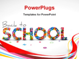 PowerPoint Template - Back to school vector illustration made from letters