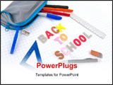 PowerPoint Template - Back to school written in exercise book