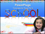 PowerPoint Template - Writing School from color plasticine with child