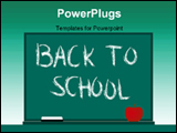 PowerPoint Template - back to school illustration