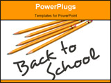 PowerPoint Template - Back to School type with number two pencils.