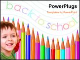 PowerPoint Template - Back to school color pencils vector background