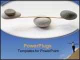 PowerPoint Template - stone balance
