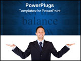 PowerPoint Template - business man balance over a white background