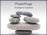 PowerPoint Template - balancing stones isolated on a white background