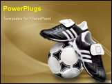 PowerPoint Template - Sports shoe with football