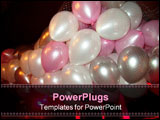 PowerPoint Template - Floating party balloons in net during nightclub event
