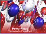 PowerPoint Template - patriotic balloons 3d