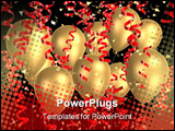 PowerPoint Template - 3d rendered illustration of balloons and ribbons