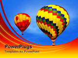 PowerPoint Template - Colorful hot air balloons flying in sky