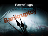 PowerPoint Template - clock face concept of bankruptcy financial problem