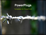 PowerPoint Template - macro shot of barbed wire