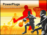 PowerPoint Template - Basketball Art.