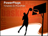 PowerPoint Template - vector illustration of basketball players - vector images can be scaled to any size