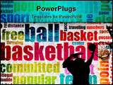 PowerPoint Template - Basketball Game as a Sport Grunge Background