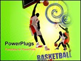 PowerPoint Template - Basketball poster. Colored Vector illustration for designers