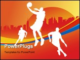 PowerPoint Template - Basketball player and team vector background for poster or card