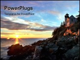 PowerPoint Template - Bass Harbor Head Light ** Note: Slight graininess, best at smaller sizes