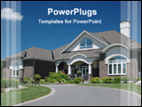 PowerPoint Template - big house with garden