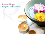PowerPoint Template - flower in a boul with candle stand