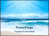 PowerPoint Template - A Piece Of Paradise, A Gorgeous Australian Beach in Southern NSW