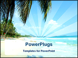 PowerPoint Template - Sandy beach with palms