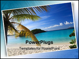 PowerPoint Template - beach scene on a beautiful caribbean Island