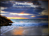 PowerPoint Template - Beautiful Beach at sunset Perth Western Australia
