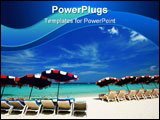 PowerPoint Template - Sea chair at beach in thailand holiday
