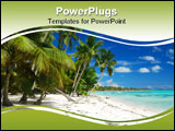 PowerPoint Template - Wild caribbean beach landscape in Dominican Republic