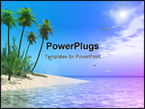 PowerPoint Template - a tropical beach