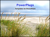 PowerPoint Template - image showing desolate beach