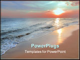 PowerPoint Template - Colorful sunrise on the sea
