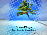 PowerPoint Template - palm tree on a beautiful tropical beach