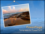 PowerPoint Template - A man standing on a sea shore