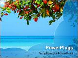 PowerPoint Template - Beautiful scene at the negrils beach jamaica