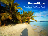 PowerPoint Template - Happy couple taking photo on the Maldivian beach