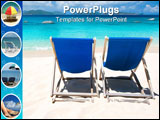 PowerPoint Template - two chairs on tropical beach with turquoise waters