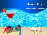 PowerPoint Template - Beach composition of fashionable women