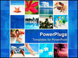 PowerPoint Template - Collage made with beautiful tropical resort shots