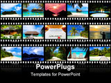 PowerPoint Template - Frames of film - nature and travel (my photos) isolated on white background
