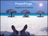 PowerPoint Template - a beautiful  image of beach