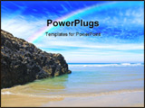 PowerPoint Template - a quiet secluded beach in cornwall england uk