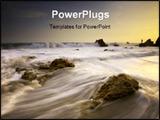 PowerPoint Template - incredible sunset light comes to el matador beach of malibu southern california usa.