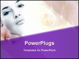 PowerPoint Template - Beautiful face