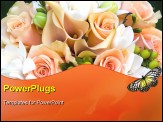 PowerPoint Template - beautiful bouquet with peach and salmon colors