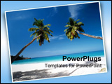 PowerPoint Template - palm trees at beach