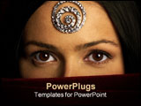 PowerPoint Template - mysterious eastern pretty woman with beautiful eyes.