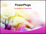 PowerPoint Template - beautiful flowers made with color filters