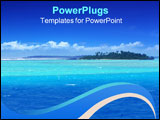 PowerPoint Template - beautiful lagoon in the pacific